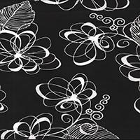 111 Black Flower